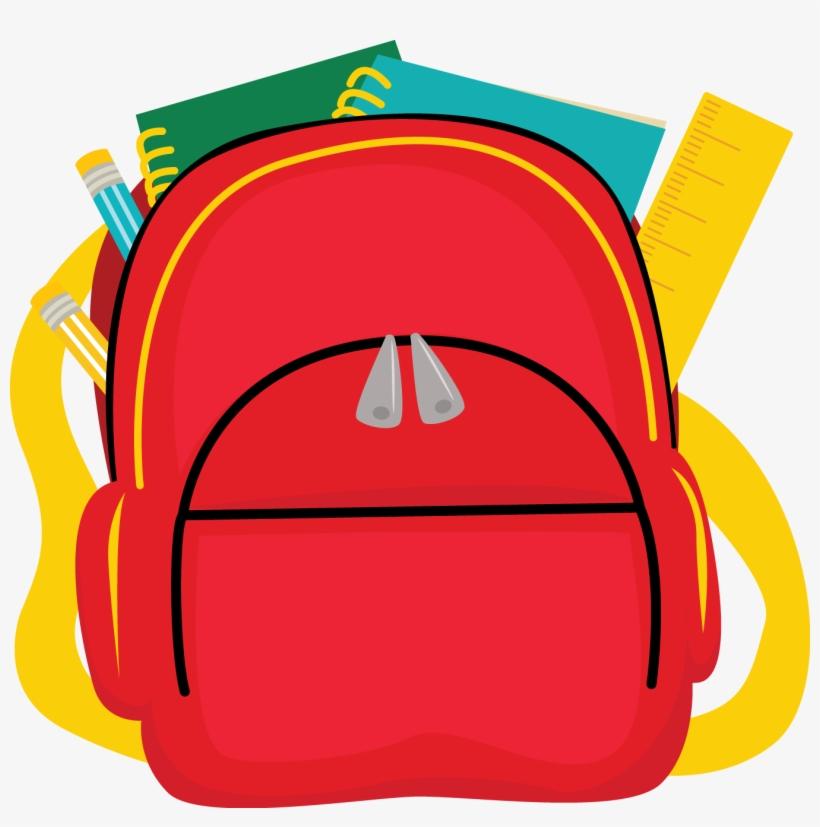 Clipart Homework Backpack.