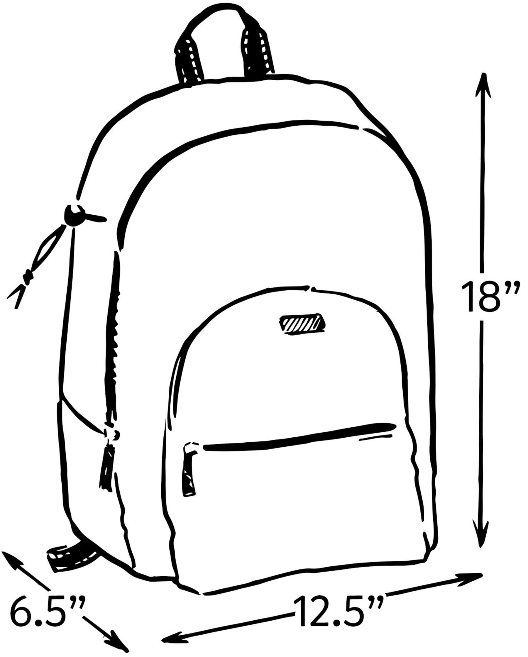 SCOUT Big Draw Backpack School Bag Interior Laptop Sleeve.