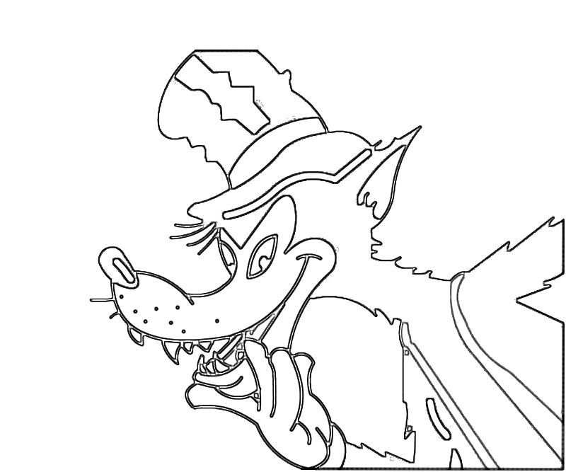 big bad wolf face coloring pages.