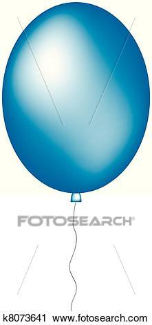 Blue big balloon Clipart.