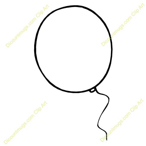Clear Big Balloon Clipart #1.