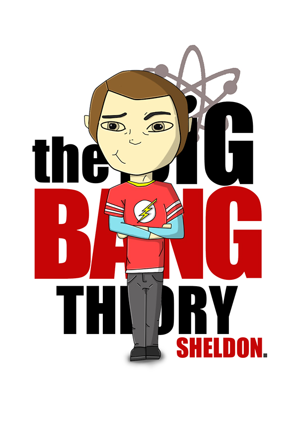 Sheldon Cartoon BIG BANG THEORY on Behance.