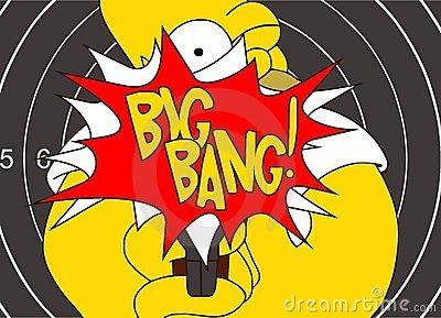 Big Bang Cartoon Royalty Free Stock Photos.