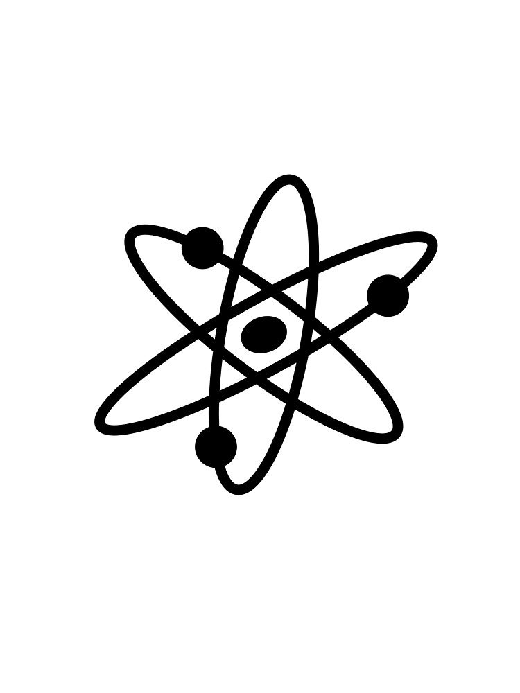 The Big Bang Theory Atom Logo 2 (in black).