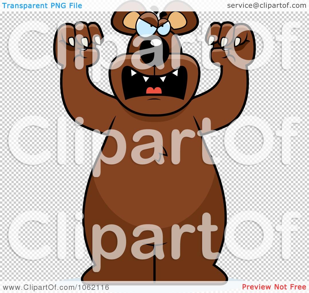 Clipart Big Bear Roaring.