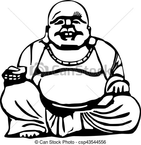 Happy buddha with big belly.