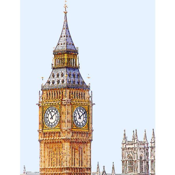 London Clock Clipart.