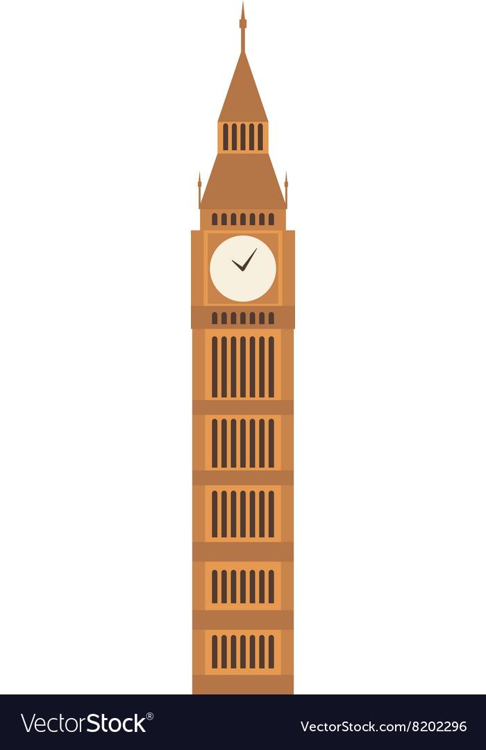 Big ben clock symbol of London.