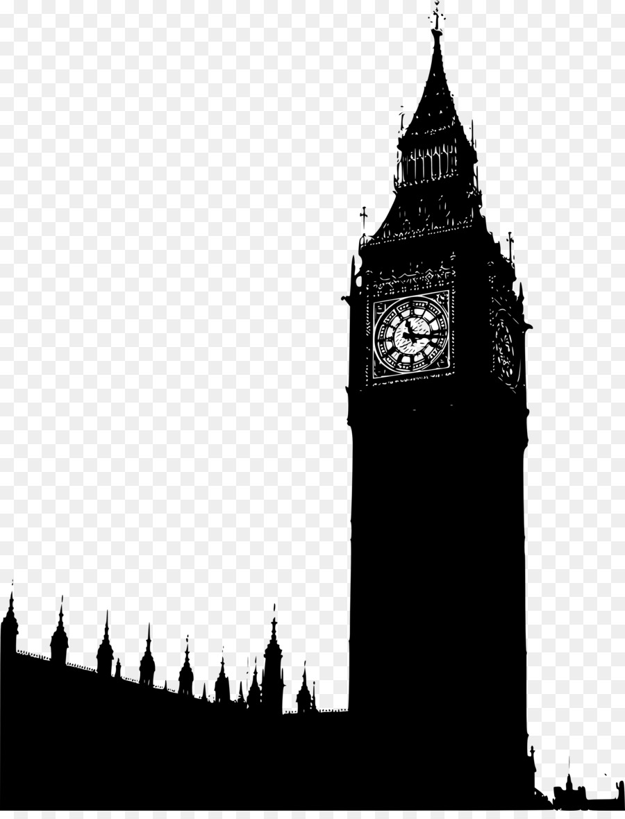 London Skyline Silhouette png download.