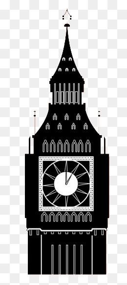 Big Ben Clock Tower Silhouette, Clock Cl #69107.