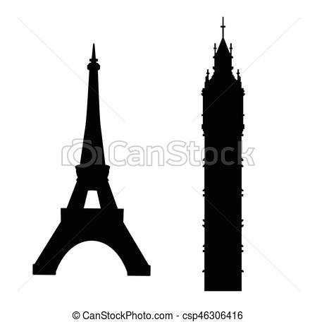 Big Ben and Eiffel Tower.