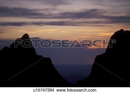 Stock Photo of Big Bend National Park, sunset, Texas, TX, Sunset.