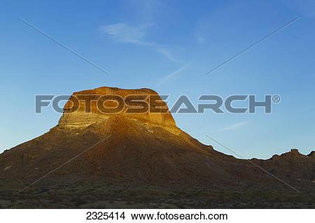 Stock Photo of Cerro castellan big bend national park;Texas united.