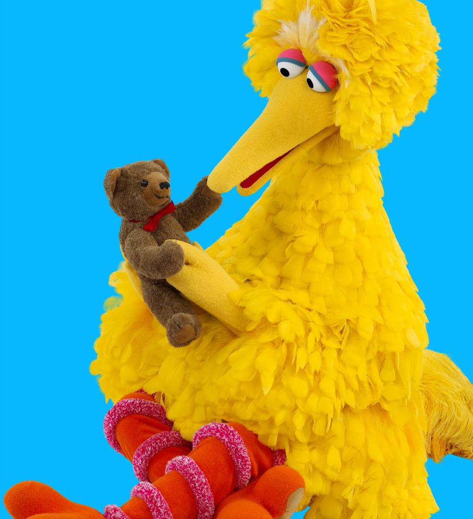 Big Bird with his teddy bear, Radar.