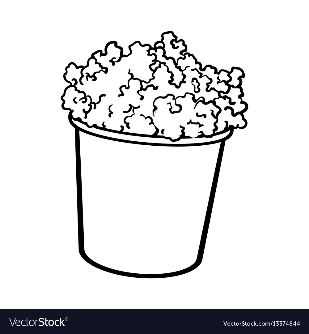 Cinema popcorn in a big black and white striped.