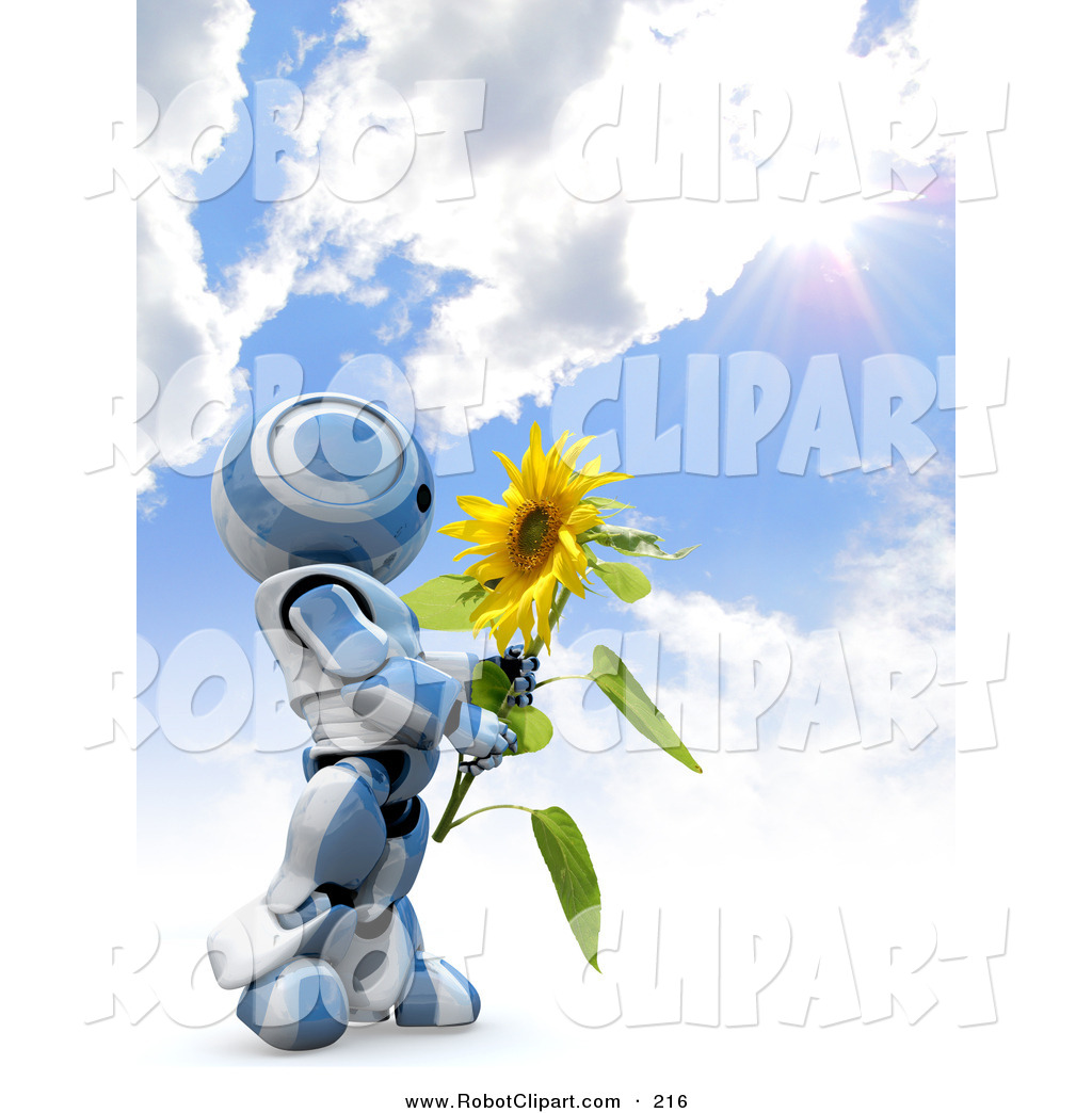 Clipart of a Cute Blue and White AO.