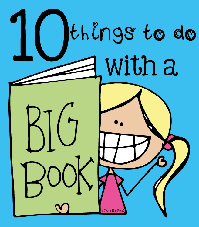 Big Book On Easel Clipart.
