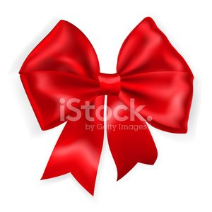 Big red bow Clipart Image.