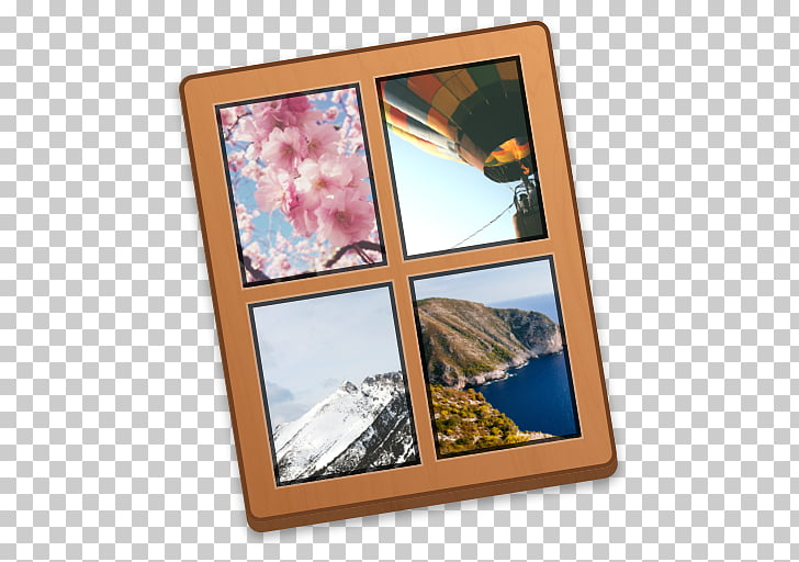 Navagio Frames Multimedia Collage Big Box Art, collage PNG.