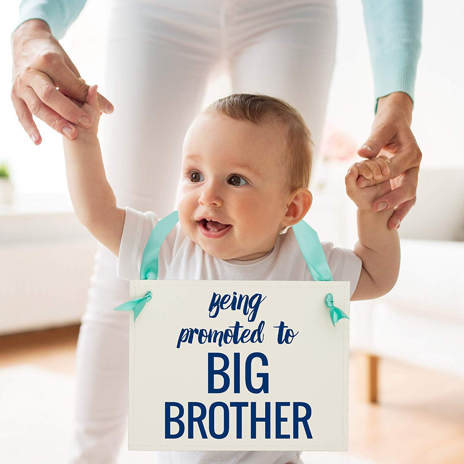 Amazon.com: Being Promoted To Big Brother Sign Pregnancy.