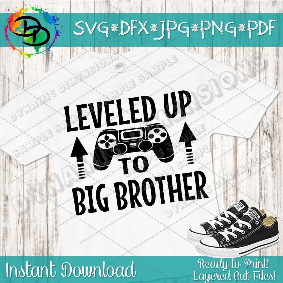 Promoted to Big Brother, Leveled up to big brother svg, New.