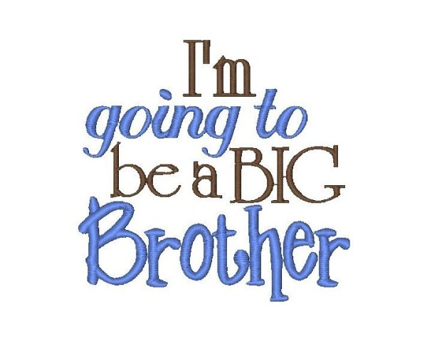I'm The Big Brother Clipart.