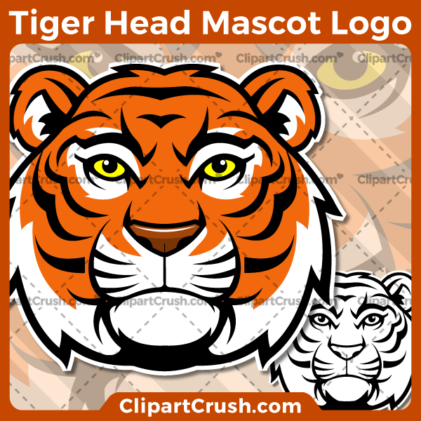 Tiger Head Mascot Logo.