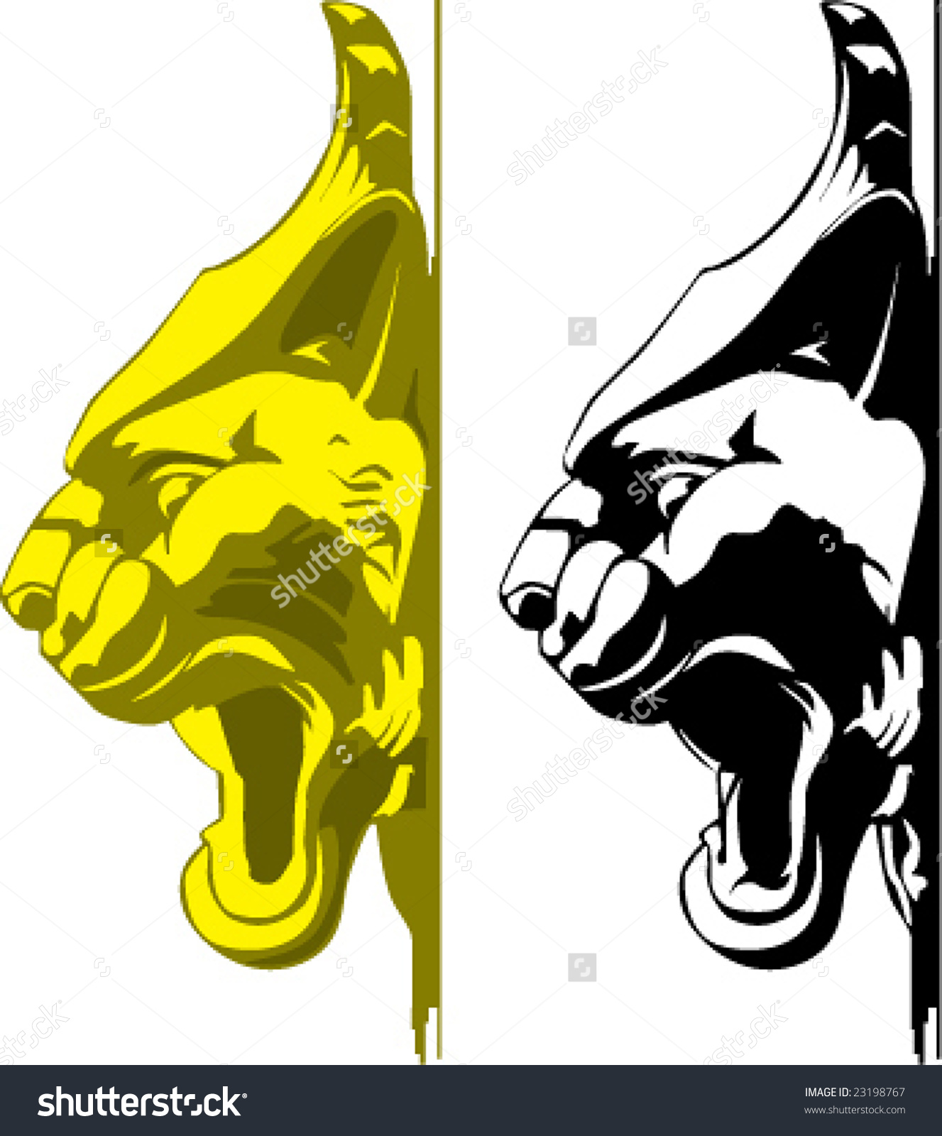 Vector Big Cat Portrait Stock Vector 23198767.