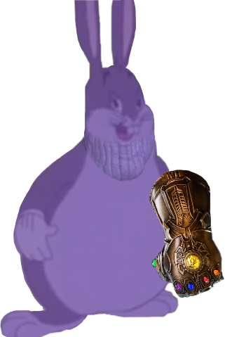 Big chungus meme for yall. Thanos infinity war art chun.