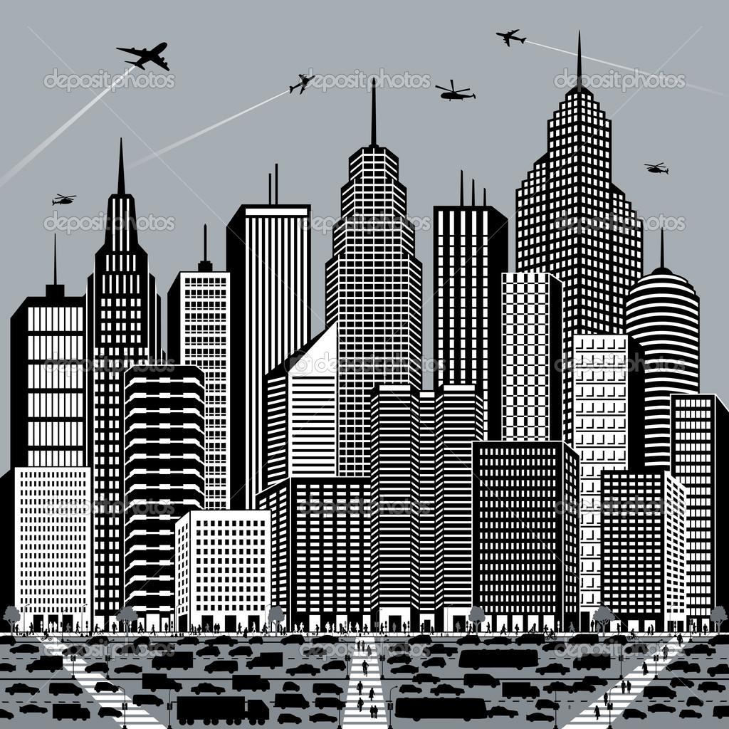 Big City — Stock Vector © Lisann #5605005.