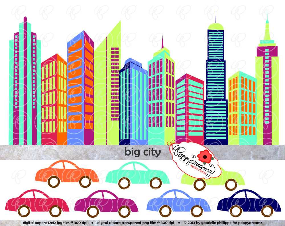 Big City Digital Skyscraper Clip Art: Skyscrapers Tall by.