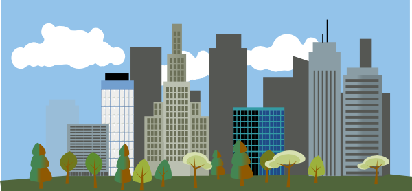 Cartoon City Clipart.