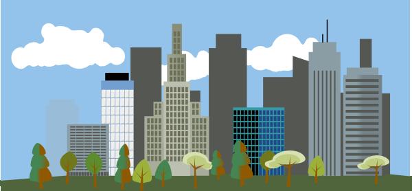 Cartoon City Clipart.