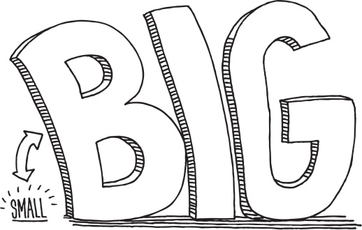 Big Vs Small Clipart.