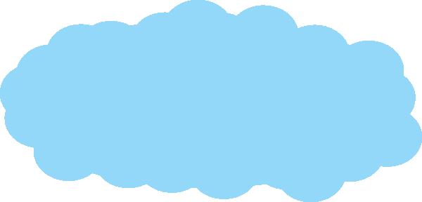 Big cloud clipart blue.