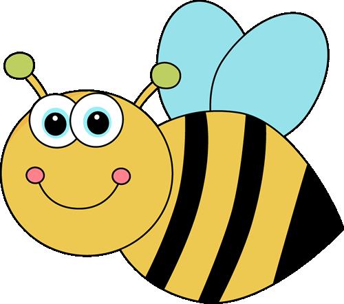Cute Cartoon Bee Clip Art Image.