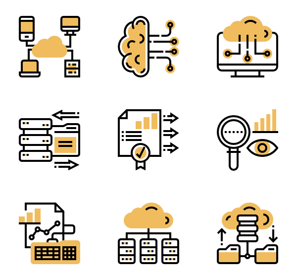75 big data icon packs.