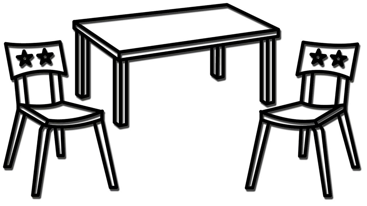 Draw dinner table and Dining Chair.