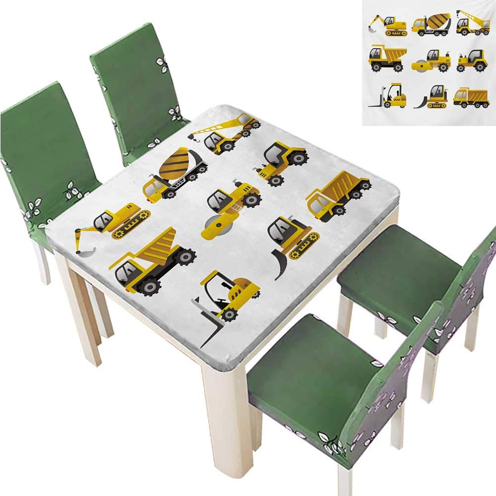 Amazon.com: Polyesters Tablecloth,Big Vehicles Icon Pattern.