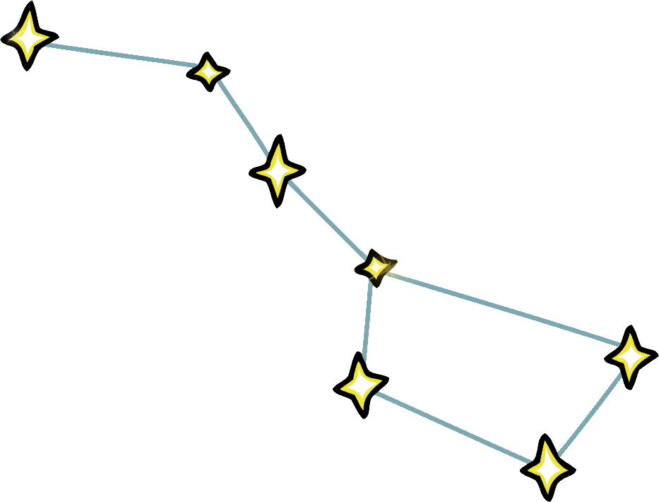 Big dipper constellation clip art.