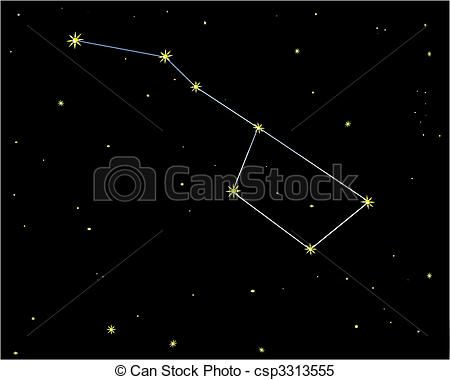Clipart Vector of Big dipper.