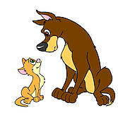 Big And Small Dog Clipart.