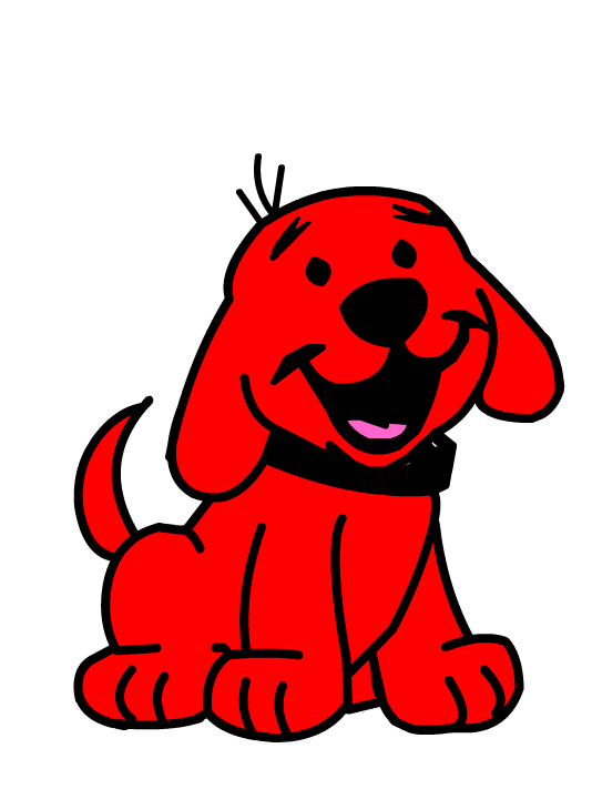 Clifford The Big Red Dog as puppy from Clipart 4U.