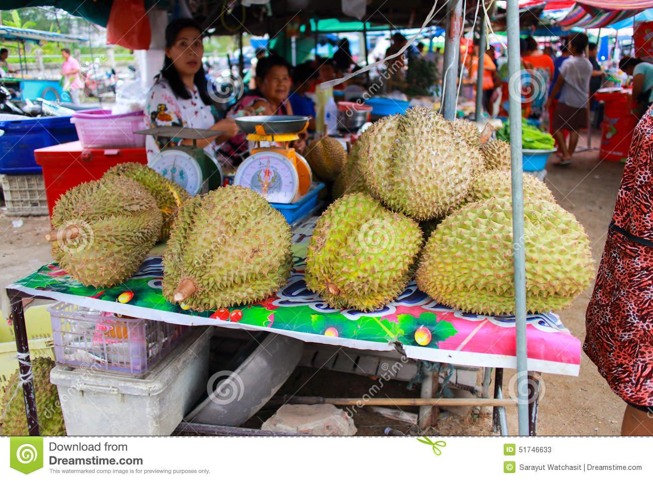 Big Durian Editorial Stock Photo.