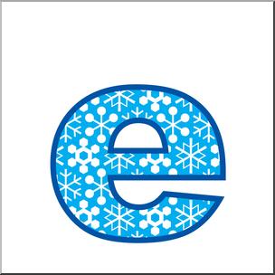 Clip Art: Alphabet Set 02: E Lower Case Color I abcteach.com.