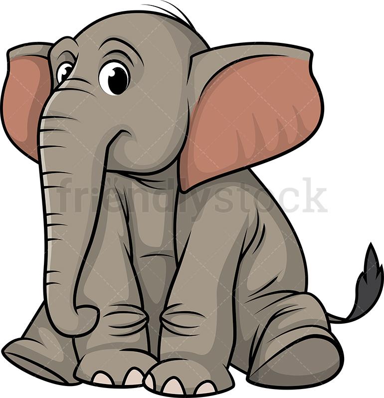 Elephant Sitting.