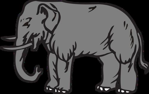 Big elephant vector clip art.
