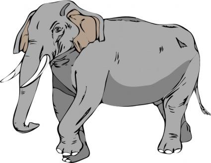 Big elephant clipart.