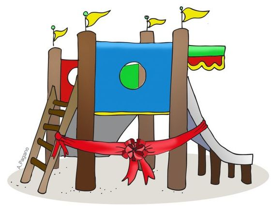 Playground opening! Use this clip art to announce this big event.