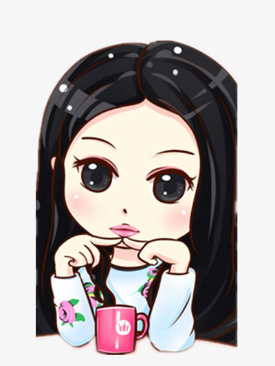 Girl With Big Eyes Clipart.